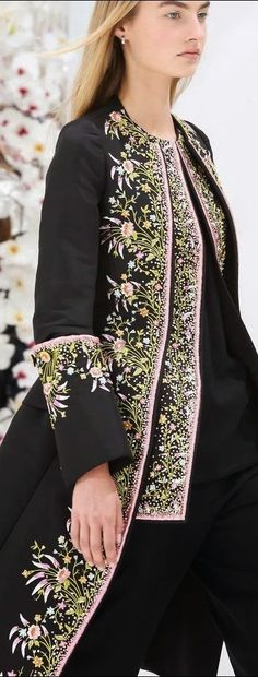 TRENDING: BLACK AND WHITE~ 18th century opulence with magnificent embroidery~ Dior Fall 2014