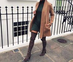 thechic-fashionista:   Dress Coat Boots I Shop... - TheStyleShaker.com