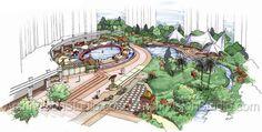 Site Plan Presentation Architectural Rendering