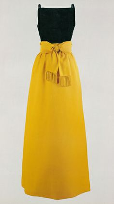This evening gown was worn by First Lady Jacqueline Kennedy at a state dinner for Peru in 1961