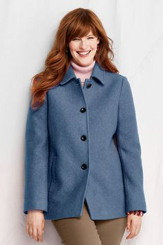 Women's Boiled Wool Jacket from Lands' End