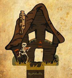 Haunted House (character #6?) by bindlegrim, via Flickr - Could this be #6 of Bindlegrim 2013 cast of characters for Halloween (now that the skull has been nixed)...  Endings and Beginnings.... (blog entry): bindlegrim.blogspot.com/2013/03/endings-beginnings.html