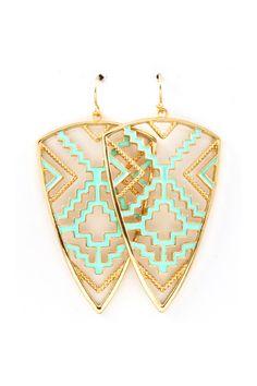 Geometric Southwest // Liv Earrings in Mint Turquoise