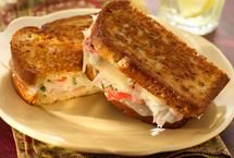 Grilled Crab Salad & Swiss Cheese Sandwiches
