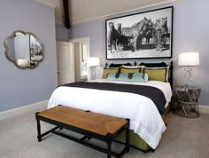 Guest Room designed by Pulp Design Studios, featuring Costello Side Table