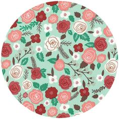 Lela Boutique for Moda, Into the Woods, Woodland Blooms Mint