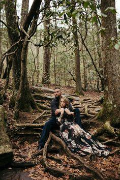 Romantic engagement shoot. Cari Pilgrim Photography. Dicks Creek Falls, Cleveland, GA