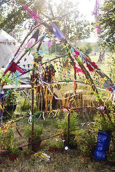 Wilderness+festival+children's+area+branches+decoration
