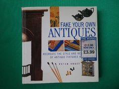 洋書『FAKEYOUROWNANTIQUES』アンティーク加工 Antique books ¥900yen 〆04月14日