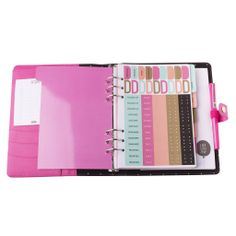 LEATHER PERSONAL PLANNER: FUCHSIA