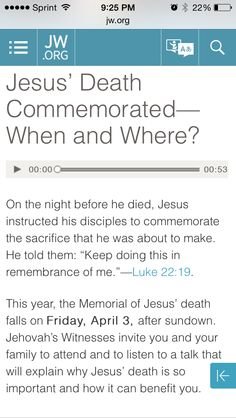 Learn how Jesus wanted us to commemorate his death. www.jw.org