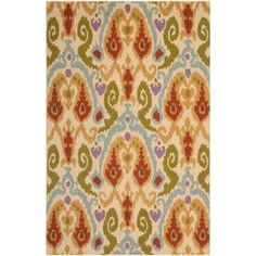 Safavieh Chelsea Ivory/Multi 5.25 ft. x 8.25 ft. Area Rug-HK382A-5 at The Home Depot