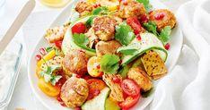 Broad Bean Falafels With Fattoush Recipe Healthy Lebanese Recipes, Vegetarian Recipes, Cooking Recipes, Broad Bean Recipes, Ramadan Recipes, Ramadan Food, Falafel Recipe, Summer Salad Recipes