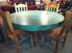 Rustic Table, Rustic Dining Set, Rustic Furniture, Western Furniture, Wood Furni