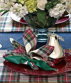 napkins & placemats - I love Christmas plaid! Must be the Scotswoman in me!