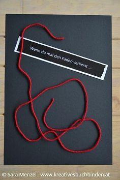 Wenn du mal den Faden verlierst ...    Wenn Buch | Bastelanleitung | Wenn Buch Ideen | Wenn Buch basteln