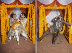 An Indian Maharaja themed photobooth with a fun swing set for a wedding by my team at Incredibooth on http://thisissheena.com