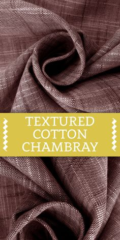 Textured Cotton Chambray in Wine