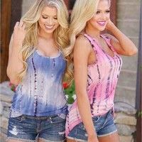 Wish | Sally Shop New Fashion Women's Wear Summer Women Clothing Sleeveless Tank T Shirt Sleeveless Tank Tops Ombre T Shirt Loose Tank Tops Beach Wear Casual Tank Tops Sally@ZP1216 Sally Shop