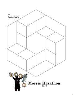 Morris Hexathon 14: Canterbury by Becky Brown       Morris Hexathon 14: Canterbury   3 Templates:A hexagon, a 60 degree diamond and a lon...