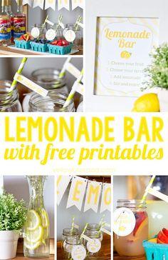 Lemonade Bar with Free Printables