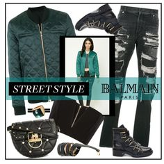 A fashion look from December 2017 featuring Balmain tops, Forever 21 jackets and Balmain boots. Browse and shop related looks.