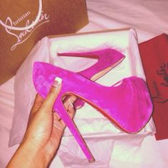 Uploaded by Maria. Find images and videos about christian louboutin, pink shoes and pink high heels on We Heart It - the app to get lost in what you love. Louboutin Shoes, Christian Louboutin, Pink Shoes, Crazy Shoes, Me Too Shoes, Wedge Heels, Pumps Heels, Stilettos, Sneakers