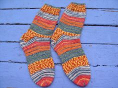 Women's Handknit Socks Size 7 1/2 Made in by SpruceCottageKnits, $30.00