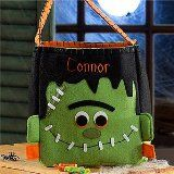 Personalized Halloween Trick or Treat Bags - Frankenstein