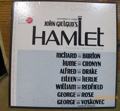 1964 A.Cohen Gielgud's HAMLET Broadway Cast Cronyn Burton Records & Book Box Set