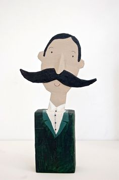 very important mister art doll. behappynow, via Etsy.