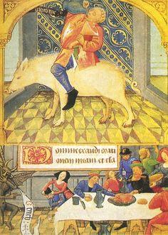 LE PECHE DE GLOUTONNERIE LIVRE D'HEURES, ca. 1475 - Poitiers