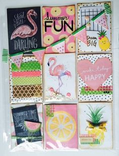 Flamingo themed pocket letter by Kathryn