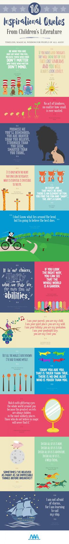 Inspirational Quotes from Children's Literature infographic