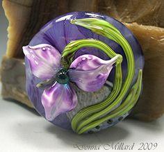 TUTORIAL LAMPWORK Sculptural Glass Lessons Frivilous Flowers Beads Donna Millard sra