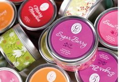 Greenleaf Candle Tins - I have the Sugar Berry and Snow Flower ones on my desk @ work. They smell amazing! (Esp. the Sugar Berry.)