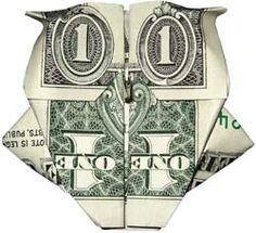 Make an owl with a dollar bill