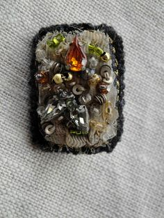Repurposed Vintage Indian Beading Brooch by Paravent on Etsy. $40.00, via Etsy.