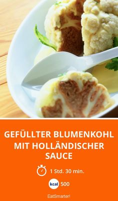 Gefüllter Blumenkohl mit Holländischer Sauce