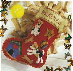 Собачка Рождество Boot - Войлок Mold