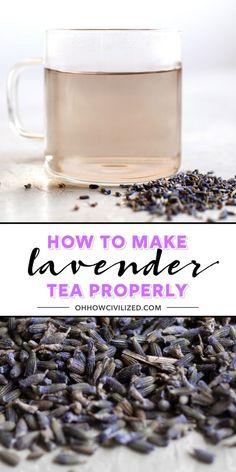 Making Herbal Tea, Making Iced Tea, Best Herbal Tea, Herbal Teas, Iced Tea Recipes, Drink Recipes, Tea Mix Recipe, Lavender Drink, Lemonade Tea Recipe