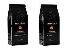 """Ambas as empresas estimam que todas as lojas da Rede Fran's Café já trabalharão com o blend """"Fran's Café por 3corações"""" até meados de janeiro Roasters Coffee, Bag Packaging, Shops, January, Group"""