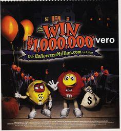 2008 magazine ad M&M HALLOWEEN MILLION mms M&M's advertisement yellow pumpkin
