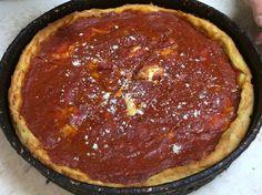 Deep-dish pepperoni pizza at Something Italian.