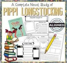 Highly engaging Common Core aligned notebook activity pages designed specifically for Pippi Longstocking by Astrid Lindgren. This novel study includes a variety of activities for all learners. 4th Grade Reading, Guided Reading, Citing Text Evidence, Text To Text Connections, Pippi Longstocking, Printing And Binding, Book Study, Reading Activities, Book Club Books