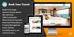 Book Your Travel – Online Booking WordPress Theme is a responsive WordPress Theme ideal for booking portals, travel agencies, hotels, bed and breakfasts, guest houses, villas, etc. or travel blogs,...