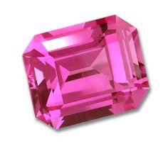 7x5mm Octagon Emerald Cut Gem Quality Chatham-Created Cultured Pink Sapphire Weighs 1.17-1.43 Ct.