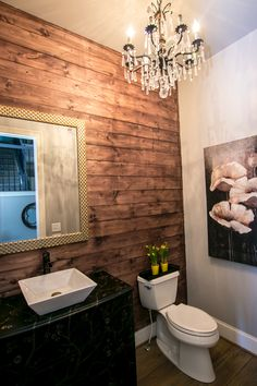 This Bathroom From Hgtvmagazine Features Stained Shiplap