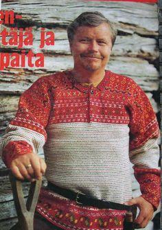 Knitting Stitches, Knitting Yarn, Tapestry Crochet, Knit Crochet, Etnic Pattern, Clothing Patterns, Finland, Ravelry, Men Sweater