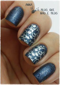 O Blog Que Não É Blog: Unhas Carimbadas: Blue Jeaned (Essence) com Plaquinha Pueen 33